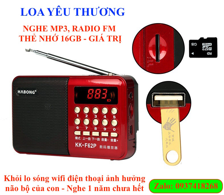 Loa yêu thương - máy nghe nhạc MP3 và Radio FM
